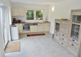 Die Küche mit Essbereich ist ebenfalls sehr groß!